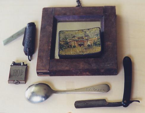 Ron Raaen's shaving set that engineers made using spring steel
